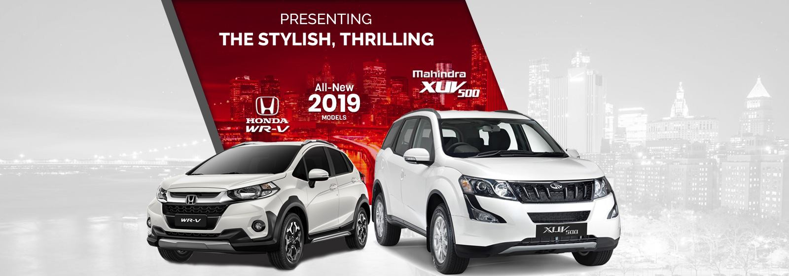 selfdrive.in : All New 2019 Models Mahindra XUV 500, Honda WR-V